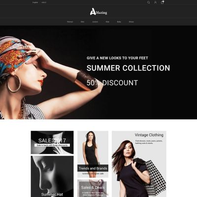 Amazing fashion shop prestashop