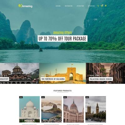 Amazing Travel - Tours ticket Store Template