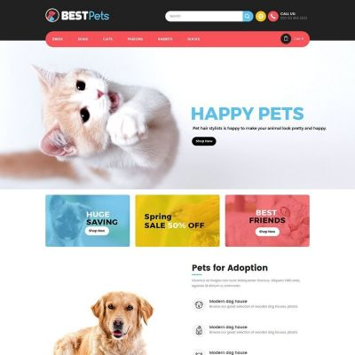Animal pets prestashop theme