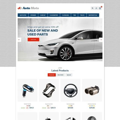 Automoto Car Prestashop Theme