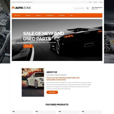 Autozone Auto Tools Prestashop Theme