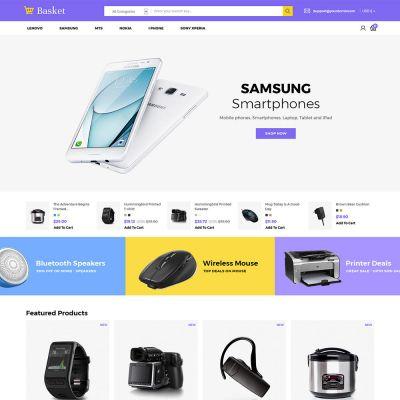 Basket Electronics - Mobile Digital Laptop Store Template