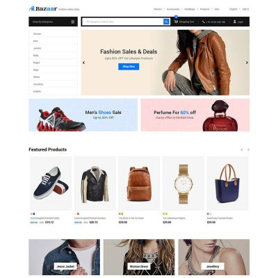 Bazaar - Mobile Electronics Digital Store Template