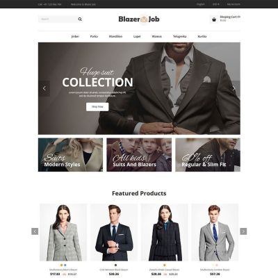 blazerjob fashion cloth prestashop theme