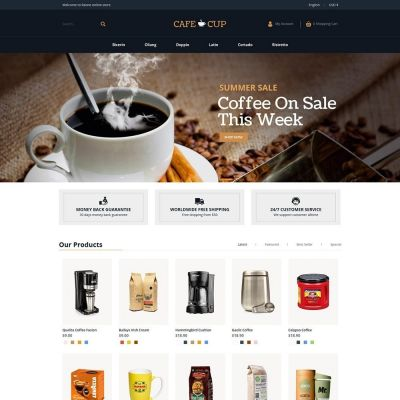 cafe cup coffee  prestashop theme