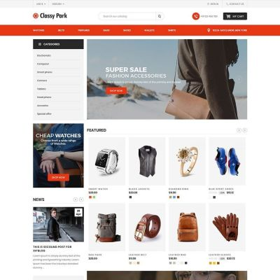 classy fashion cloth prestashop theme