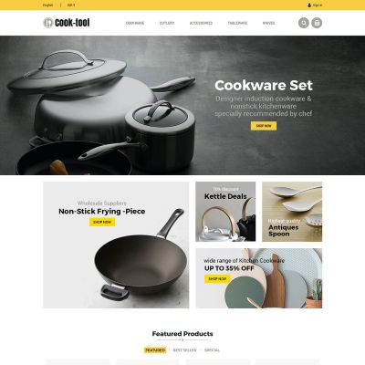 cooktool kitchen prestashop theme