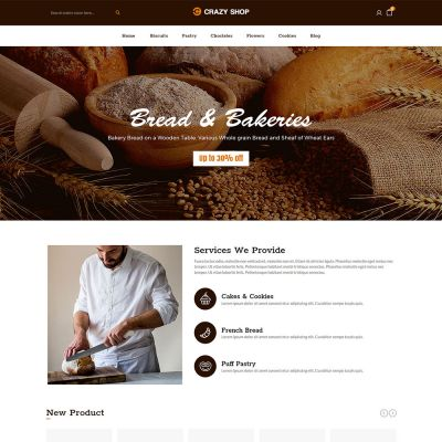Crazyshop Multipurpose Responsive Magento2 Theme | Bakery Store
