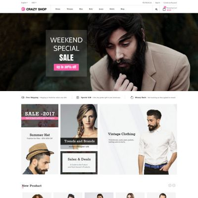 Crazyshop Multipurpose Responsive Magento2 Theme | Fashion store
