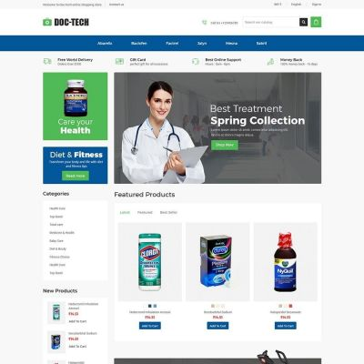 doctech medical prestashop theme
