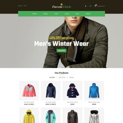 Dream cloth shirt prestashop theme