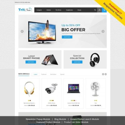 Electronics digital mobile prestashop theme