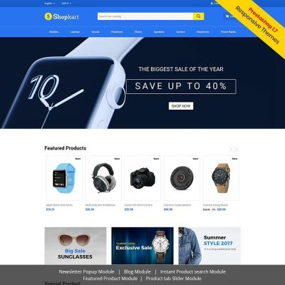 ShopKart Electronics prestashop theme