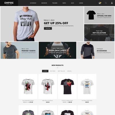 Empire fashion prestashop Theme