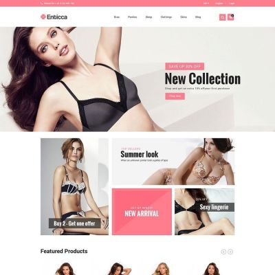 Entica Fashion Lingerie psd