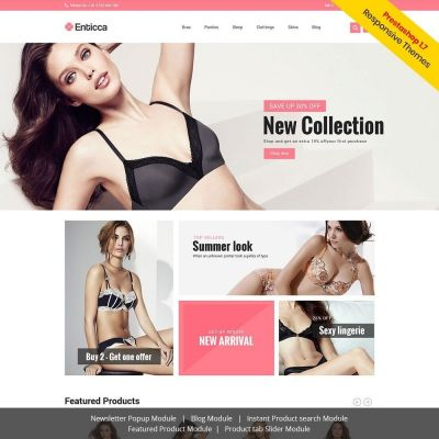 entica fashion lingerie prestashop theme
