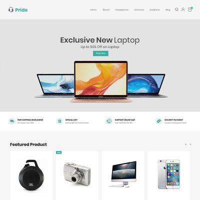 Euforia Black - Multipurpose Magento 2 Theme Euforia Electronic Store