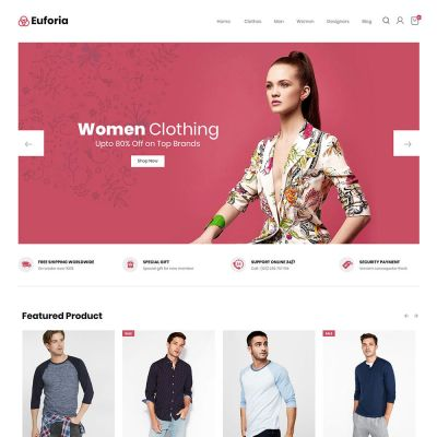 Euforia Black - Multipurpose Magento 2 Theme Euforia Fashion Store