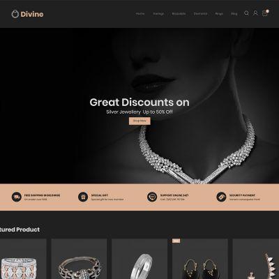 Euforia Black - Multipurpose Magento 2 Theme Euforia Jewellery Store