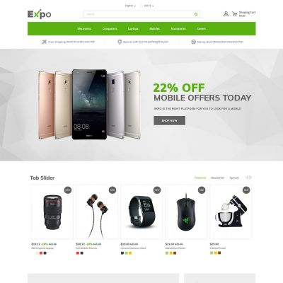 expo electronics mobile prestashop theme