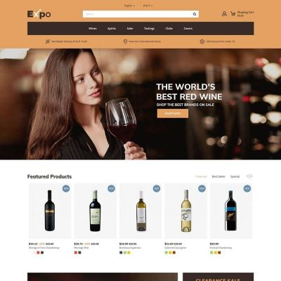 expo wine prestashop theme