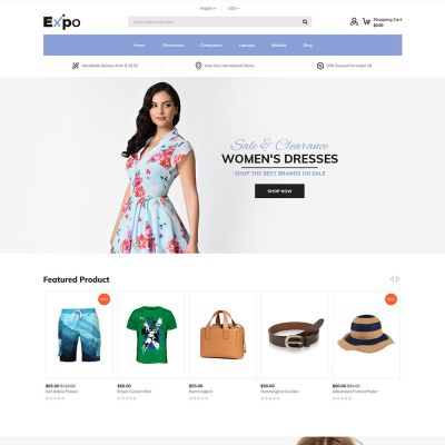 Expo - Multipurpose Responsive Magento2 Theme | Fashion Store