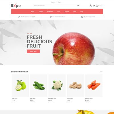 Expo - Multipurpose Responsive Magento2 Theme | food Store