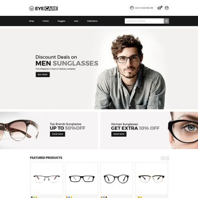 eyecare fashion glasses prestashop themes