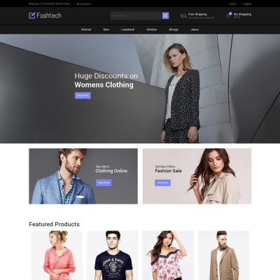 Fashion Apparels - Women Designer Store Template
