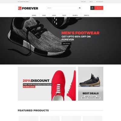 Fashion Shoes Prestashop Theme