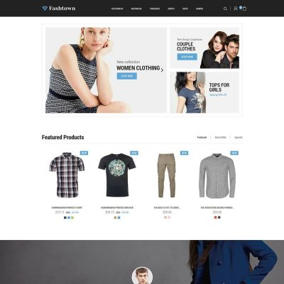 fashtown fashion cloth prestashop theme
