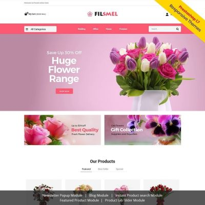Fil Smel Gift - Flower Store	Template