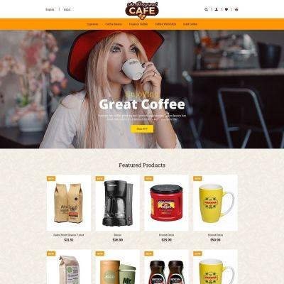 Food and Restaurant Cafe Store Template