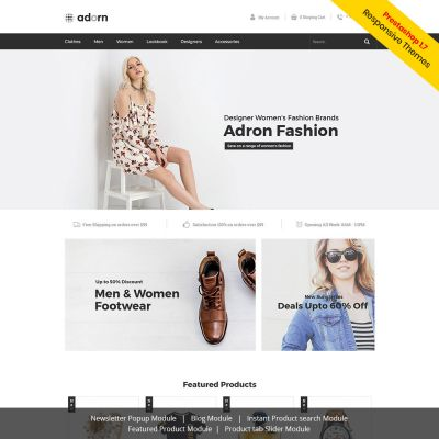 Addorn Free Fashion Prestashop Theme