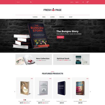 Fresh Page Book - Ebook Library Store Template