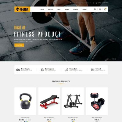 get fit gym fitness prestashop theme