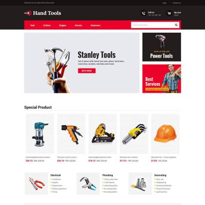 Hand Tools - Equipment Spare Part Store Template