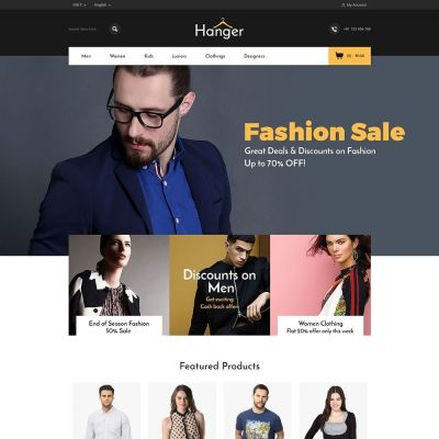 hanger fashion cloth prestashop theme