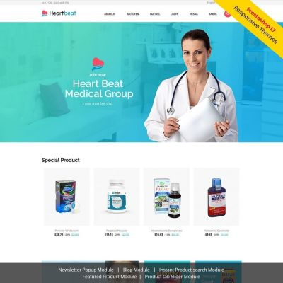 Heartbeat Medical Prestashop Theme