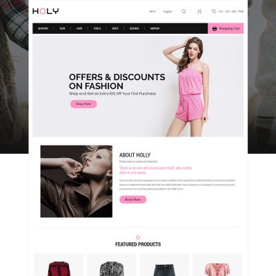 holly fashion cloth prestashop theme