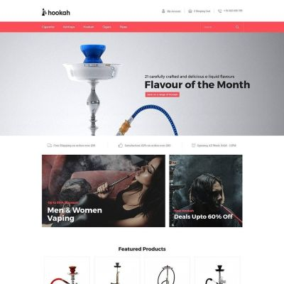 Hookah - Smoke Bar Store Template