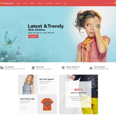 Klassy Kids Fashion - Electronics Magento 2.3 Theme