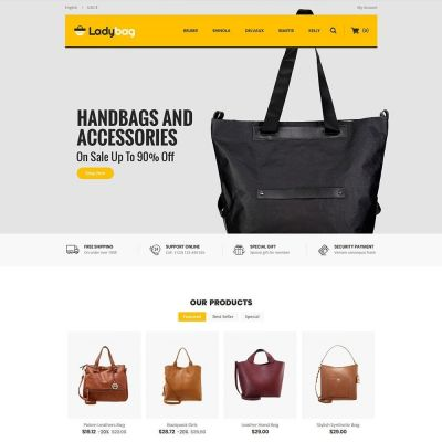 Ladybag Store psd