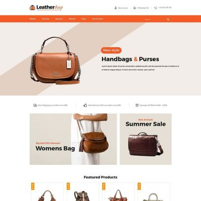 Leather Bag Fashion Prestashop Theme