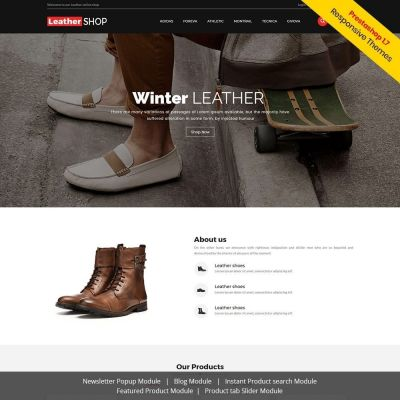Leather Shoes Bag Prestashop Theme