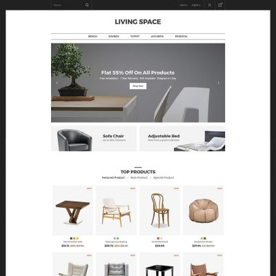 Living Furniture Store Prestashop Theme