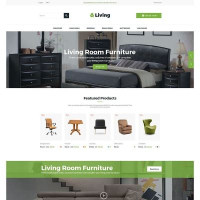 Living Furniture Chair Prestashop Theme