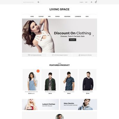 Living Space - Furniture Interior Wooden Magento 2.3 Theme  Fashion store