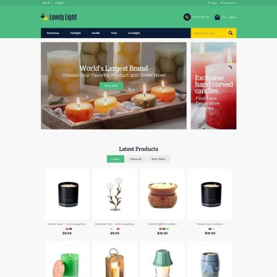 lovely light bulb prestashop theme