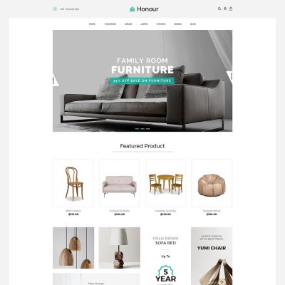 Honour - Multipurpose Responsive Magento2 Theme | Furniture Store